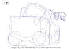 Step by Step How to Draw Tow Mater from Cars : DrawingTutorials101.com Cartoon Car Drawing, Cartoon Head, Car Drawings, Learn Drawing, Learn To Draw, Projects For Kids, Art Projects, Tow Mater, Step By Step Drawing