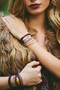 Stacked Bohemian Bracelets by Pura Vida