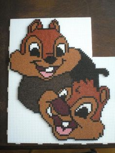 Chip'n Dale hama perler beads by marmotte88130