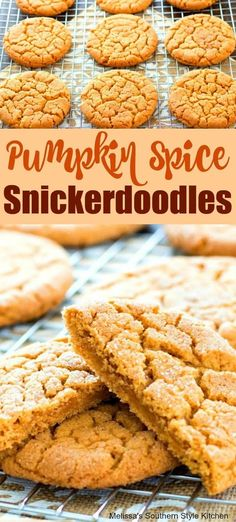 Spice Snickerdoodles Pumpkin Spice Snickerdoodles These pumpkin spice cookies are soft, chewy and perfect for fall. They're filled with flavor thanks to the pumpkin, vanilla extract, & fall spices. Then they're rolled in cinn Thanksgiving Cookies, Thanksgiving Recipes, Fall Recipes, Holiday Recipes, Holiday Cookies, Fall Cookie Recipes, Thanksgiving Baking, Fall Cookies, Halloween Cookies