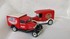 TWO Coca Cola Model T and Model A Delivery Trucks by KatsVintageTreasures on Etsy