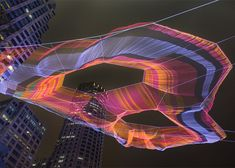 Artist Janet Echelman creates aerial rope sculpture in Boston