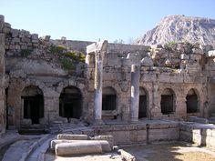 Peirene, Greece - via Getty Iris   http://blogs.getty.edu/iris/unlocking-the-secrets-of-an-ancient-fountain/