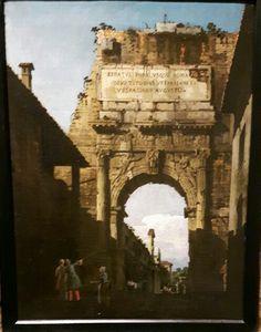 1744 l'arco di Tito a Roma Accademia Carrara