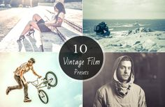 10 Vintage Film Presets Photography Editing Retouching by Symufa, $10.00