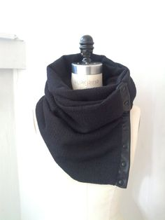Black ultra soft circular infinity scarf by System63 on Etsy