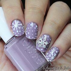 snowflakes by magnifiquenails #nail #nails #nailart