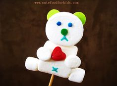 Cute Food For Kids?: Marshmallow Pop: Teddy Bear