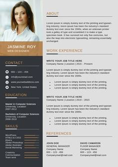Freebie Clean CV/Resume Template ---CLICK IMAGE FOR MORE--- resume how to write a resume resume tips resume examples for student Indesign Resume Template, Modern Resume Template, Creative Resume Templates, Free Cv Template, Resume Software, Resume Tips, Resume Examples, Cv Manager, Foto Cv