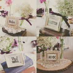band table name wedding idea