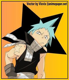 Black Star Soul Eater, Star Images, Image Boards, Manga, Comics, Stars, Anime, Character, Sleeve