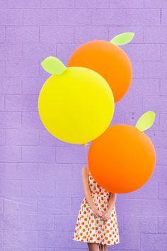 DIY Citrus Balloons | studiodiy.com