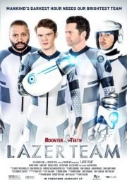 """Lazer Team        Lazer Team      Ocena:  5.90  Žanr:  Action Comedy Sci-Fi  """"Mankind's darkest hour needs our brightest team.""""After thousands of years of thinking we are alone in the universe we decode a message (in the 60s) telling us we are not alone and that the universe is a dangerous place and that we are going to be attacked. Luckily the coded message came from a friendly alien race that fathered and protected us over the years. And now they are giving us the tools to fight back (in…"""