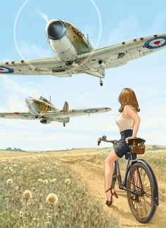 atomic-chronoscaph: Pin-Up Wings - art by Romain Hugault