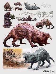 Fallout 4 Creatures, Ray Lederer on ArtStation at… Fallout Art, Fallout 4 Concept Art, Monster Concept Art, Game Concept Art, Creature Concept Art, Creature Design, Alien Creatures, Fantasy Creatures, Game Design