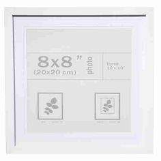 Nice Photo Frame - 8in. x 8in. (20cm x 20cm), White