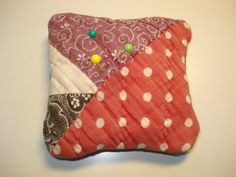 Handmade Sachet Pin Cushion  Antique 1800's by backgatecottage, $15.00