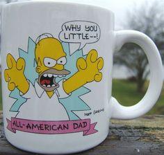 Look what I found on @eBay! http://r.ebay.com/jR0v1O Vintage HOMER SIMPSON ALL AMERICAN DAD Ceramic Mug THE SIMPSONS 1990