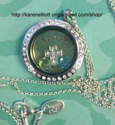 Origami Owl Faith. Christian. Cross. Living Locket - Personalized Jewelry