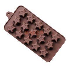 Siliconen Ijsblokje mallen 15 roosters DIY chocolade ster vorm siliconen mallen…