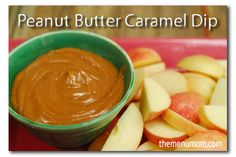 Caramel Peanut Butter Dip - use caramels instead of ice cream topping