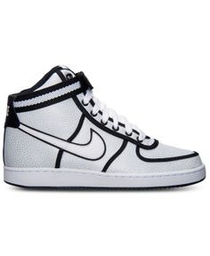 Nike - Men's Vandal High Casual Sneakers from Finish Line --> Steal the spotlight in the retro-rewind Nike Vandal High Casual Sneakers, a 1984 original reworked for today. With a supple leather upper and a high-top silhouette, these sneakers were born to turn heads. A midfoot strap helps to keep these babies in place, while Nike branding and piping add that classic look you love.  Leather upper