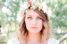 Resultado de imagen para corona de flores para el cabello