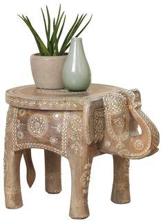 Orientalischer Beistelltisch Elefant mit afrikanischem Muster Spirit Of Summer, Table, Furniture, Home Decor, African Patterns, Natural Colors, Ad Home, Decoration Home, Room Decor