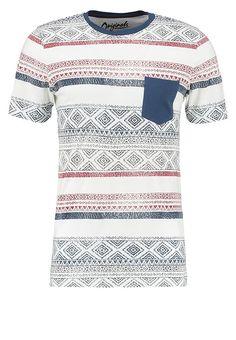 Jack & Jones JORREADER SLIM FIT - Print T-shirt - cloud dancer for £14.99 (29/03/17) with free delivery at Zalando