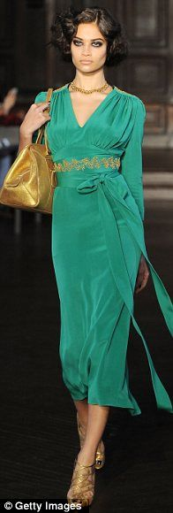 L'Wren Scott 2012- I recently saw Ellen Barkin wearing this, it looked better on her, a stunning dress in the best color!