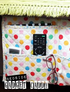 How To: Bedside Gadget Caddy and Stuff Organiser - My Poppet -Your weekly dose of crafty inspiration