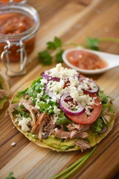 Turkey tostadas:  Antojitos Mexicanos