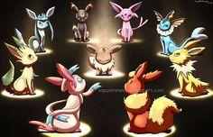 Eevee e le sue evoluzioni All Eevee Evolutions, Pokemon Eeveelutions, Pokemon Firered, Cute Pokemon, Pokemon Store, Anime Rules, Pokemon Official, Pokemon Pictures, Catch Em All