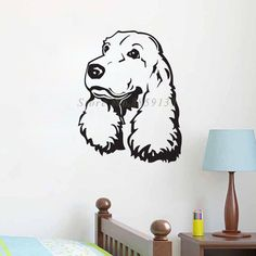 Cocker Spaniel Nursery Room Wall Decal Removable Vinyl Wall Art Home Decor Nursery  Price: 7.87 & FREE Shipping  #pets #dog #doglovergifts