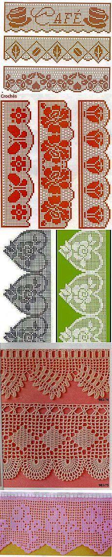 Кружева филейные / Вязание крючком / Вязаные крючком аксессуары