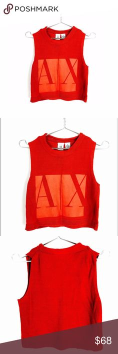 Armani Exchange matte crop top sweater Matte print on front, size medium but runs small... will fit XS or small A/X Armani Exchange Tops Crop Tops