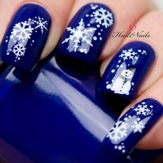Christmas Nail Wraps Water Transfers Decal Nail Art Y10 Snowmen & Snowflakes Salon Quality by Hailthenails on Etsy https://www.etsy.com/listing/169170583/christmas-nail-wraps-water-transfers