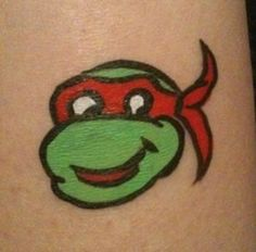 Face painting ninja turtle