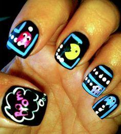 More Pacman nail art...