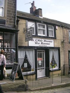 Ye Olde Bronte Tea Rooms - Main Street near to Haworth, Bradford. An area known for its association with the Brontë sisters and its preserved heritage railway.