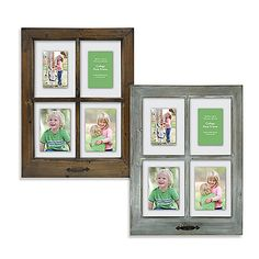Display your precious memories in rustic charm with this wooden collage frame resembling a 4-pane window.