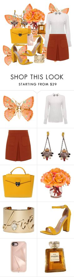 """""""Untitled #813"""" by brandi-gurrola on Polyvore featuring Hallhuber, POMIKAKI, The French Bee, Lanvin, Steve Madden, Rebecca Minkoff and Chanel"""