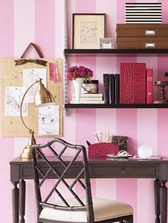 Layer texture and tone-on-tone pattern for a sophisticated office retreat with a French twist. #decor