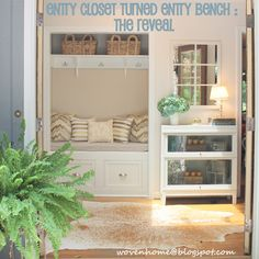 I like both the remodeled entry closet and the private foyer - if a salesperson were to visit, they wouldn't see more than this. ~Tangerine