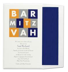 Colorful Bar Mitzvah Invitation