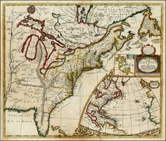 A New Map of the English Empire in America viz Virginia New York MaryLand New Jarsey Carolina, New England Pennsylvania Newfoundland New France  . . . 1719 - Barry Lawrence Ruderman Antique Maps Inc.