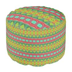 A modern and unique different tribal pattern with stylish and geometric looks. You can also customize it to get a more personal look. Ottoman Design, Poufs, Colorful, Abstract, Stylish, Unique, Outdoor Decor, Modern, Pattern