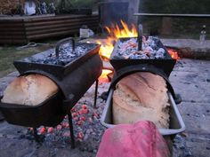 Vuurvarkie Braai Bread Oven - Vuurvarkie Braai Bread Oven 1 x bread baking oven 1 x bread pan( bakes a bread) unbleached Eureka stone ground flour Recipe Instructions - BraaiShop. Dutch Oven Cooking, Fire Cooking, Cast Iron Cooking, Bread Oven, Bread Baking, Cooking Bread, Outdoor Oven, Outdoor Cooking, Bbq Grill