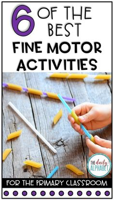 6 of the Best Fine Motor Activities - Fine motor skills are an important part of student learning that is often overlooked. Keep on reading for 6 of the best fine motor activities for kids. Preschool Fine Motor Skills, Fine Motor Activities For Kids, Motor Skills Activities, Gross Motor Skills, Preschool Activities, Physical Activities, Dementia Activities, Physical Education, Fine Motor Activity
