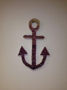 Fading anchor cork board